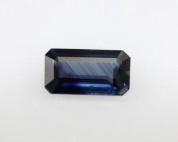 1.06cts Natural Australian Blue Sapphire Emerald Cut