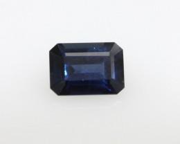 0.93cts Natural Australian Blue Sapphire Emerald Cut