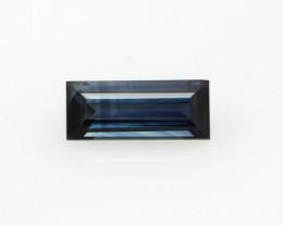 0.77cts Natural Australian Blue Sapphire Baguette Cut