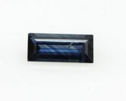 0.79cts Natural Australian Blue Sapphire Baguette Cut