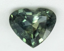 0.53cts Natural Australian Yellow/Green Parti Sapphire Heart Shape