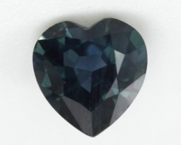 0.58cts Natural Australian Blue Sapphire Heart Shape