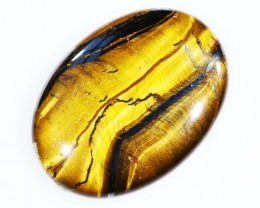 30.7 CTS TIGER EYE   WITH HEMATITE -AUSTRLIA [STS 174]