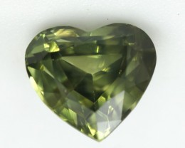 1.16cts Natural Australian Yellow/Blue Parti Sapphire Heart Shape