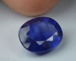 4.35 Cts Natural Blue Sapphire Oval Cut African Gem