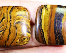 69.4 CTS TIGER EYE   WITH HEMATITE -AUSTRALIA [ST164 ]