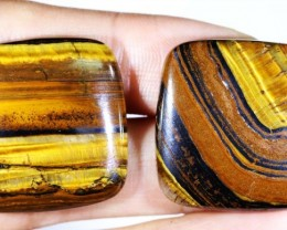 74.6 CTS TIGER EYE   WITH HEMATITE -AUSTRALIA [ST168 ]