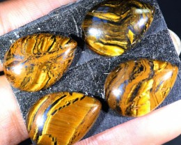 42.2 CTS TIGER EYE   WITH HEMATITE -AUSTRALIA [STS177]