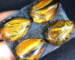 41.2 CTS TIGER EYE   WITH HEMATITE -AUSTRALIA [ST184 ]