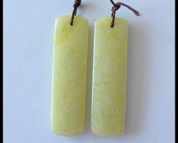 37.25 Ct Natural Serpentine Earring Beads-Spring Beads