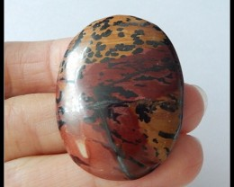 56.05 Ct US Picture Jasper Cabochon
