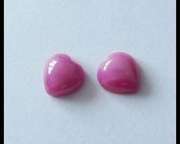 6.6Ct Ruby Heart Gemstone Pair