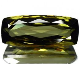 7.07 Beautiful Luster Honey Green Tourmaline Mozambique Gem