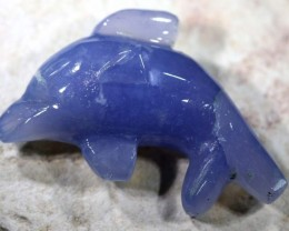 17.80 CTS CHALEDONY DOLPHIN CARVING LT-276