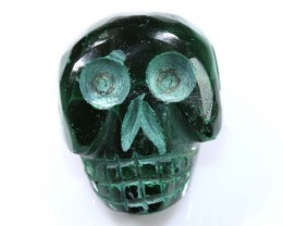 MALACITE SKULL CARVING 46.50 CTS LT-284
