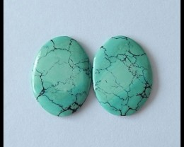 16.3 ct Natural Turquoise Gemstone Cabochon Pair(C0070)