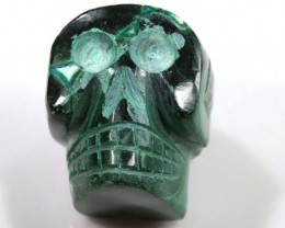 CHRYSOCOLLA SKULL CARVING 70.90 CTS LT-293