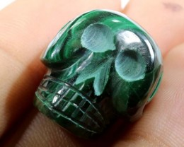 CHRYSOCOLLA SKULL CARVING 55.75 CTS LT-294