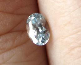 0.40cts Rare Natural Australian Blue Zircon Oval Shape