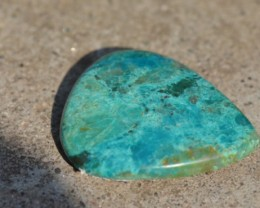 Chrysocolla turqoise color 42mmm 70ct  drop pear heart cabochon