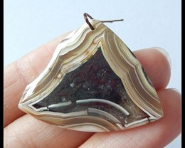 26.7 ct Natural Banded Aagte Pendant Bead