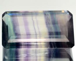 51.99 Cts Natural Multi Color Octagon Cut Fluorite Afghanistan Gem