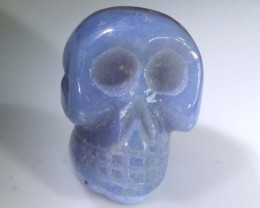 CHALECONY  SKULL  CARVING 37.50 CTS LT-307