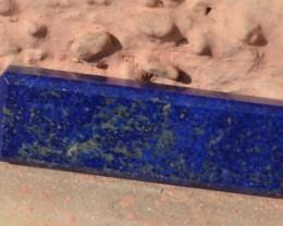 Lapis Lazuli faceted rectangle oblong cabochon 51mm 69ct