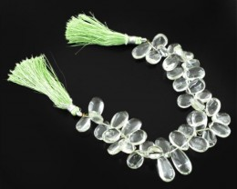 Genuine 215.20 Cts Green Amethyst Beads Strand