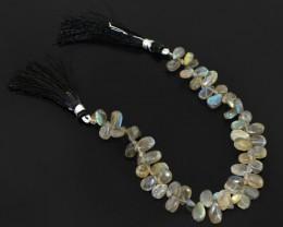 Genuine 99.05 Cts Labradorite Beads Strand