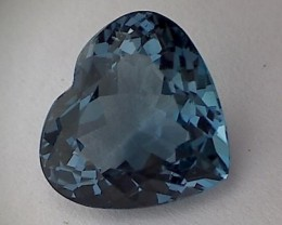 Glamour ! 11.75ct Heart Shape London Blue Topaz VVS THM42
