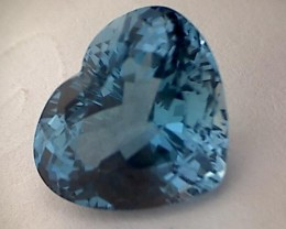 Glamour ! 10.80ct Heart Shape London Blue Topaz VVS THM41