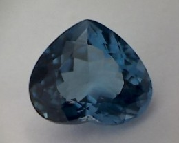 Glamour ! 9.50ct Heart Shape London Blue Topaz VVS THM44