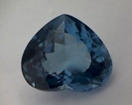 Glamour ! 9.50ct Heart Shape London Blue Topaz VVS THM44