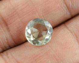 Genuine 2.50 Cts Round Faceted Prasiolite Gemstone