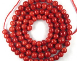 Rare 54+ Cts Natural Red Italian Coral Roundel Beads