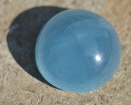 AQUAMARINE cabochon 19.35ct 17.5mm AAA blue