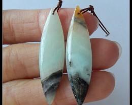24.25 Ct Natural Amazonite Earring Beads(B1804381)