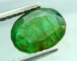 CERTIFIED Natural with good color Emerald green fine Faceted cuts