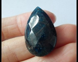 39 Ct Faceted Blue Apatite Gemstone Cabochon