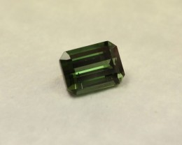 TOURMALINE GREEN EMERALD CUT