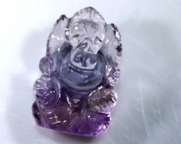 12.60CTS AMETRINE CARVING-INDIAN LORD GANESH LT-315