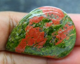 42ct NATURAL UNAKITE JASPER CABOCHON GEMSTONE
