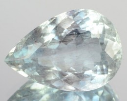 5.29 Cts Natural Blue Aquamarine Pear Cut Brazil Gem