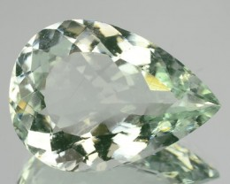 10.81 Cts Natural Green Beryl(Aqua) Pear Cut Brazil Gem