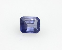 0.56cts Natural Sri Lankan Blue Sapphire Emerald Cut