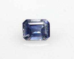 0.71cts Natural Sri Lankan Blue Sapphire Emerald Cut