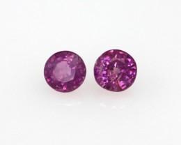 0.57cts Natural Sri Lankan (Ceylonese) Pink Sapphire Matching Round Shape