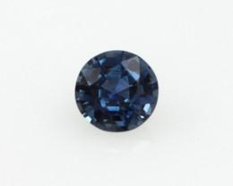 0.52cts Natural Australian Blue Sapphire Round Cut
