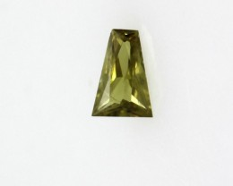 0.24cts Natural Australian Yellow Sapphire Tapper Baguette